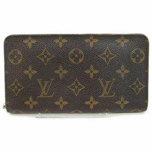 Auth Louis Vuitton Zippy Wallet Brown #7350L23